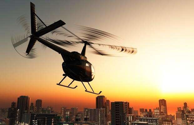 Voo de Helicoptero sobre ObrasDrones na Construcao Civil DroneVIP